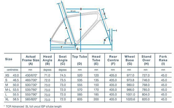 Frame sizing/geometry - Focus Cayo v Giant TCR - Australian
